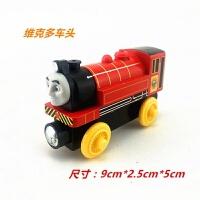 托马斯和朋友托马斯儿童玩具带磁铁木质轨道小火车们火车头玩具车 银色 维克多