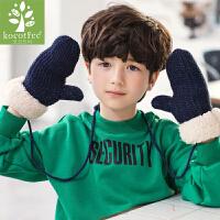 新款儿童手套秋冬宝宝手套加绒保暖男童女童棉手套2-4-8岁潮
