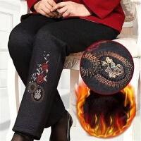 中老年女裤冬装棉裤加绒加厚女妈妈裤子春秋老年人奶奶保暖裤外穿 L 建议80-90斤