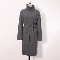 [5折优惠价:189]伊芙丽高领长袖宽松休闲连衣裙1AC990081