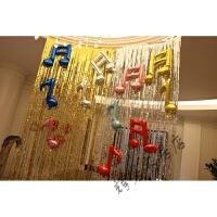 六一单音符双音符音乐造型儿童节教室布置生日派对婚礼装饰气球
