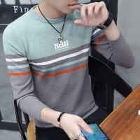毛衣男圆领春秋2018新款韩版潮流青年修身帅气针织衫个性线衣外套