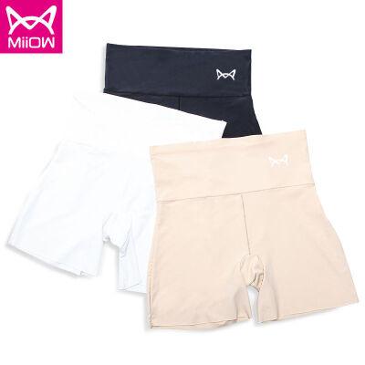 猫人MiiOW正品三条装 三分短裤防走光无痕高腰冰丝安全裤女