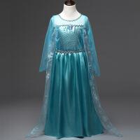 冰雪奇缘公主裙爱莎艾莎裙子长裙爱沙女王衣服儿童正版女童连衣裙