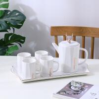 水具水杯杯子套装家用创意杯子客厅4只装冷水壶凉水壶陶瓷欧式
