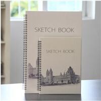 遵爵精装建筑物大图案速写本 铁圈速写本 写生本 素描本 笔记本