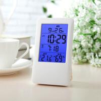 家用夜光室内温湿度计多功能电子温度计湿度计婴儿房闹钟背光 图片色
