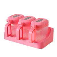 糖果色调味盒塑料调味罐套装厨房味精盐罐调料罐调味料盒