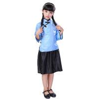 儿童民国服装五四青年装学生装幼儿园女童民国风女装国学汉服男童