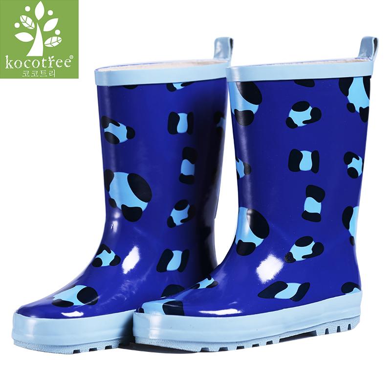 kocotree儿童雨鞋女童防滑雨靴环保橡胶雨靴男童雨鞋小孩水鞋宝宝雨鞋透气舒适 防滑防水