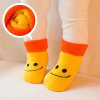 婴儿袜子春秋冬0-3-6-12个月男女宝宝中筒毛圈袜加厚松口