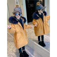 儿童棉衣秋冬季2018新款女孩中长款棉袄加厚外套