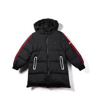 【限时购】新款儿童羽绒服男童中长款韩版连帽冬季外套