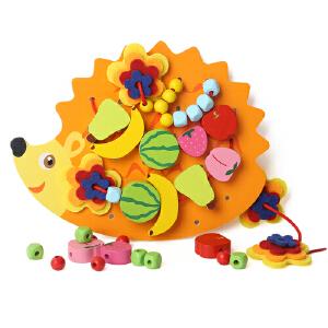【当当自营】TOPBRIGHT特宝儿 刺猬穿绳游戏串珠穿线板儿童玩具8587