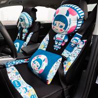 汽车头枕护颈枕车用靠枕卡通可爱创意车载枕头车内靠垫