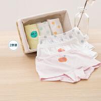 迷你巴拉巴拉女童内裤2020春夏新款儿童宝宝平角裤可爱印花两条装