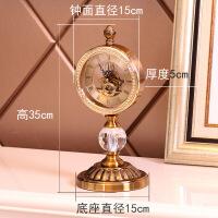 欧式钟表摆件客厅玄关家居摆设时钟摆钟桌面摆台式座钟创意装饰品 座钟