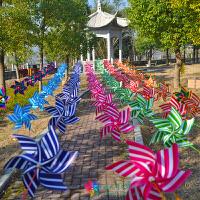 风车串户外装饰风车幼儿园挂饰楼盘露天塑料防雨景区风车玩具
