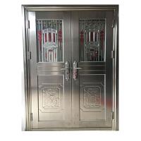 不锈钢防盗门单门 定做304不锈钢门防锈进户白钢楼宇工程防盗门阳台子母不锈钢大门