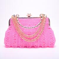 手工串珠DIY仿珍珠包包 散珠子材料包编织手提口金包包饰品制作