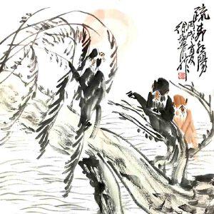 中国画猴第一人,中国美术家协会会员,江苏省花鸟研究会副会长南京师范大学教授徐培晨(朝阳)