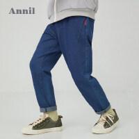 【活动价:154】安奈儿童装男童牛仔单裤针织2020春季新款弹力单裤