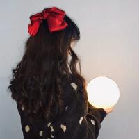 红色大蝴蝶结发夹女后脑勺少女发饰发绳日系发卡顶夹头饰夹子