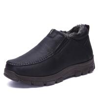棉鞋男冬季老人保暖舒适冬鞋男士加绒加厚中老年爸爸鞋老北京布鞋