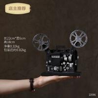 复古置物架摆件留声机装饰品家居客厅房间电视柜欧式酒柜创意摆设SN4114 18C 电影放映机