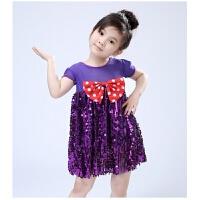 儿童箱子里的梦演出服舞蹈服道具幼儿园亮片蓬蓬纱裙男女童现代舞 女童裙子 100cm