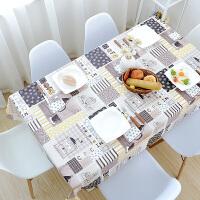 田园餐桌布防水防油防烫免洗桌布PVC塑料台布网红长方形茶几桌垫
