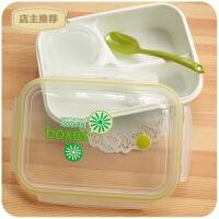 日式微波炉分格饭盒便当盒学生食堂简约男女上班单层装汤分隔餐盒SN9444
