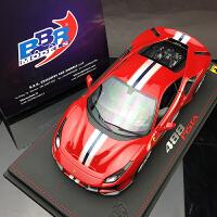 汽车模型BBR 1:18 法拉利488 Pista 跑车树脂收藏摆件定制 红色 现货