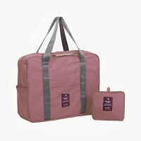 当当优品 旅行折叠收纳袋 单肩手提包 大容量可套拉杆行李箱登机包 粉色