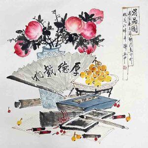 *美术师,河南省美协理事,中国书画名家理事会理事许鲁(清品图)