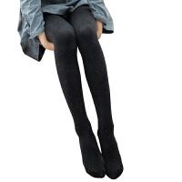 光腿神器女秋冬棉袜裤加绒连裤袜外穿竖条纹连体袜子显打底裤 均码