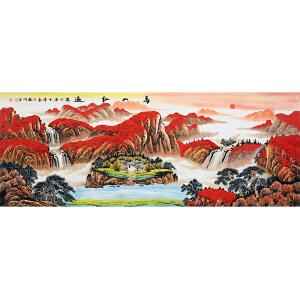 中国美协会员,中国书协会员,龙云书画院院长侯桂峰(万山红遍)10