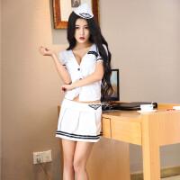 情趣内衣性感空姐女警护士制服诱惑角色扮演短裙激情套装夜店sm骚 白色空姐服 S