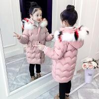 儿童棉衣冬季2018新款中大童加厚外套女孩中长款棉袄