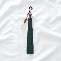 【四季豆】中式佛系配旗袍之玉髓菩提流苏压襟挂件穗子 【四季豆】 墨绿色