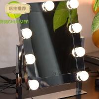 折叠式双色外置LED灯泡化妆镜便捷式高清成像梳妆镜SN1235