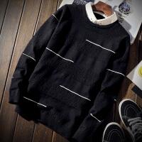 秋冬新款带领毛衣男假领衬衣领潮流韩版修身毛衫假两件套衬衫领