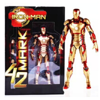 漫威 钢铁侠 MK42  7寸 可动人偶模型 带替换手配件 已换包装啦