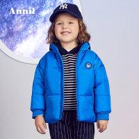 【3件3折:119.7】安奈儿童装男童短款棉衣2019冬装新款小童保暖短款棉袄