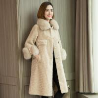 大衣女装2019新款冬皮中长款外套