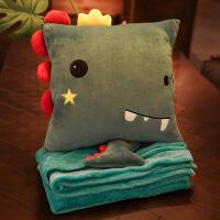 抱枕被子两用汽车珊瑚绒毯子办公室靠垫被沙发午睡枕头靠枕三合一