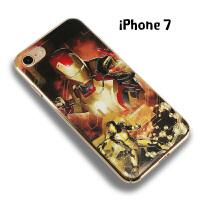 漫威苹果7手机壳美国队长钢铁侠iphone7男用防摔7plus全包壳潮男 果7 钢铁侠经典