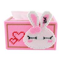 立体绣5D十字绣新款客厅手工纸巾盒抽纸盒DIY材料米菲瞌睡兔