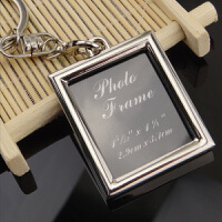 情侣钥匙扣 定制相框照片创意情侣钥匙链挂件影楼礼品金属钥匙链圈520礼物 长方形 相框