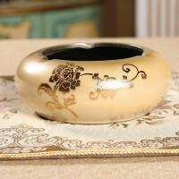 欧式烟灰缸客厅创意个性复古简约陶瓷时尚家居彩绘工艺品